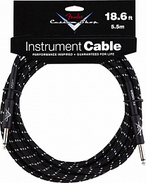 FENDER CUSTOM SHOP 18,6` INSTRUMENT CABLE BLACK TWEED