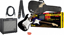 ГИТАРНЫЙ КОМПЛЕКТ FENDER SQUIER AFFINITY STRAT HSS&G-DEC JUNIOR AMP BLACK