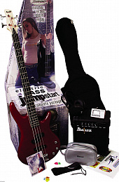 БАСОВЫЙ КОМПЛЕКТ IBANEZ BASS GUITAR JUMPSTART PACK GSR190JU RED