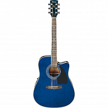 ЭЛЕКТРОАКУСТИЧЕСКАЯ ГИТАРА IBANEZ PF60SECE TRANSPARENT BLUE